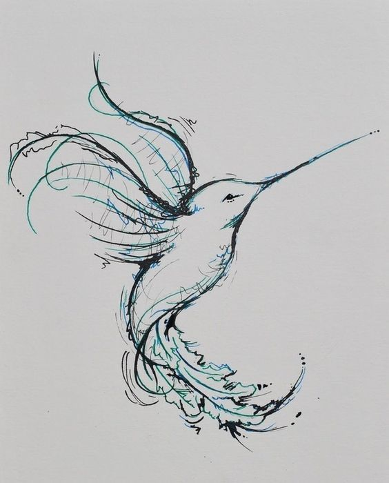 hummingbird tattoo...minus the blue in and on my shoulder blade ...