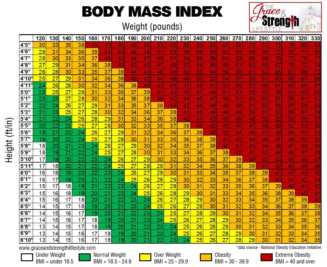 Attractive Body Mass Index Chart
