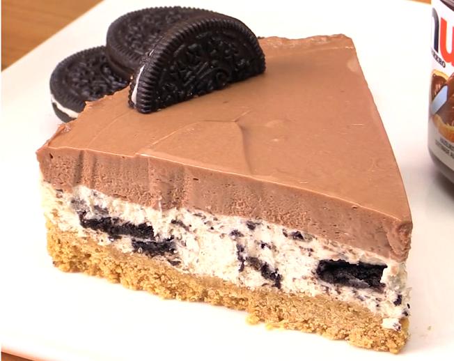 No Bake Nutella Oreo Cheesecake Pinteres