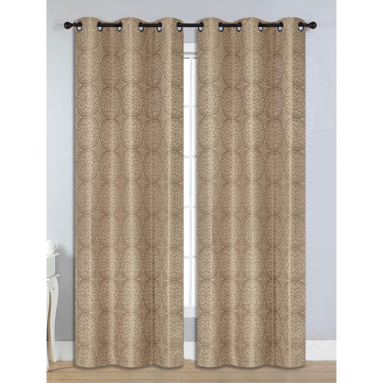 Bella Luna Marcus Jacquard Room Darkening 84 Inch Grommet Curtain