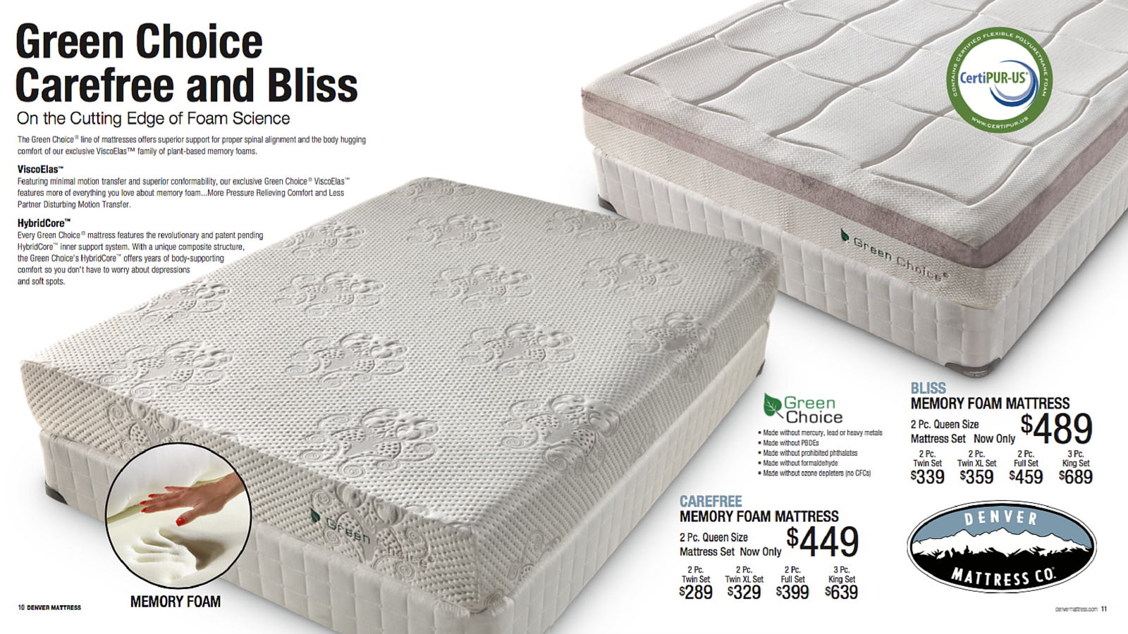 Green Choice Carefree Mattress Droughtrelief Org
