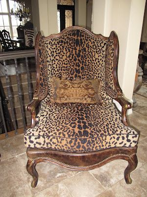 Leopard Print Wing Chair From Seville Home