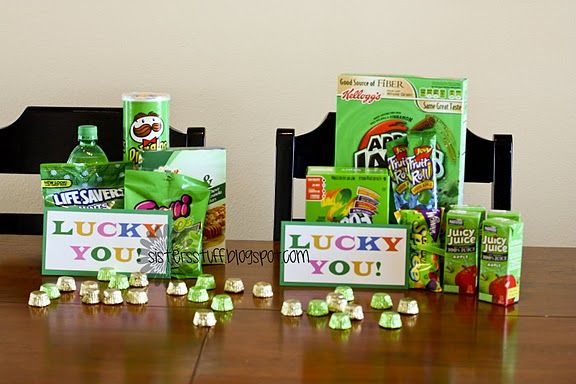 Cute idea. Could throw in some gold coins and Lucky Charms too!