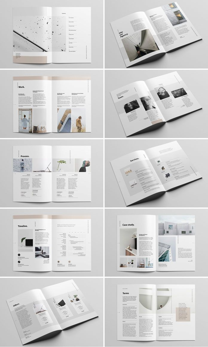 Project Proposal Brochure Template from Moscovita | Tarjetas ...