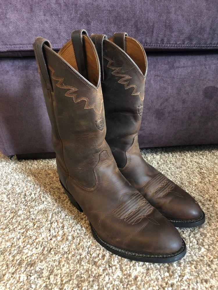 5c8b8fdb8a4 Ariat 10002194 Distressed Leather Western Sedona Cowboy Mens Boots ...