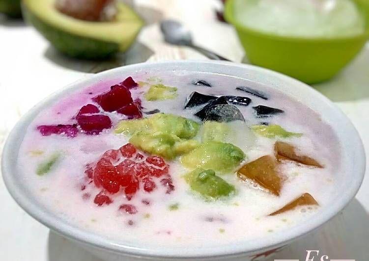 Resep Es Teler Seger Versi Santan Oleh Diyah Kuntari Resep Hidangan Penutup Resep Makanan Dan Minuman