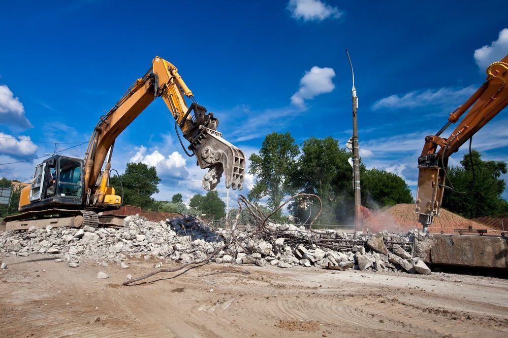 Block Wall Surface Commercial Demolition Contractors Melbourne Demolition Land Clearing Construction Services