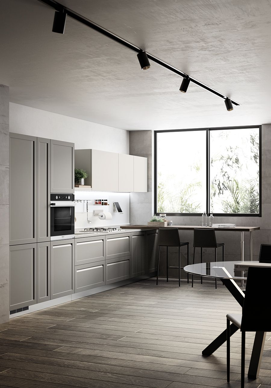 Welcoming Familiar Atmospheres The Pearl Breeze Quartz Finish Worktop Is 3 Cm Thick And It Blends In Seamlessly With The Delica Arredamento Carattere Cucine