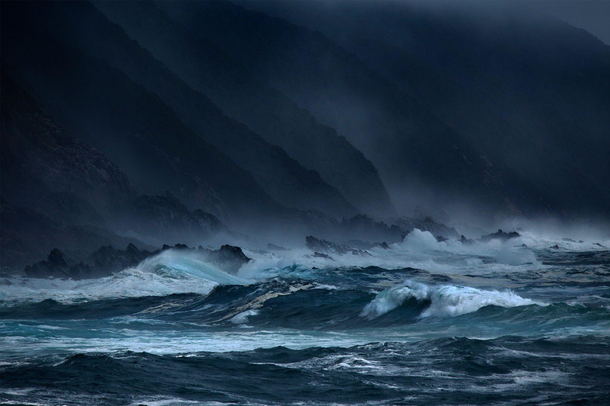 Dark Seas Ocean Waves Wallpaper Sea Waves Storms Rocks