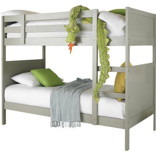 quality design ef3b6 037cd Elayna Single Bunk Bed Just Kids Bed Frame Colour: Grey ...