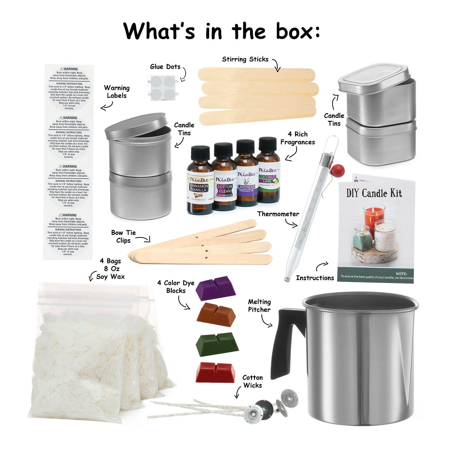Complete DIY Candle Making Kit Supplies, Super Beginners