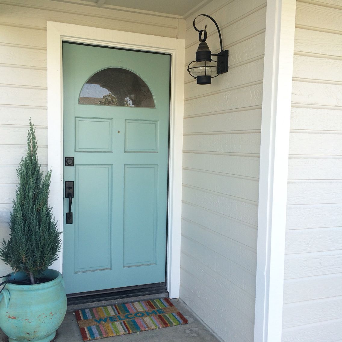 Benjamin Moore Revere Pewter, White Dove (trim), and Grenada Villa ...