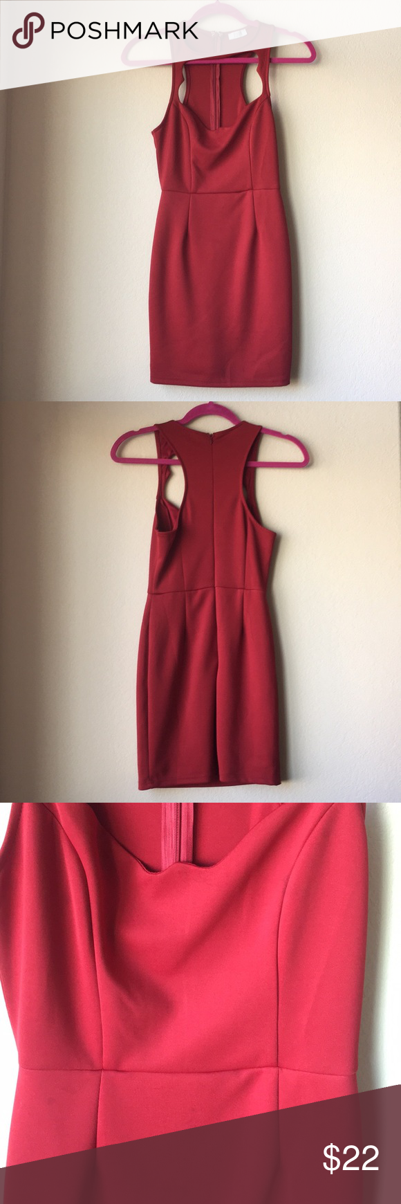 Vday tobi dark red cut out dress small dark red dark and minis
