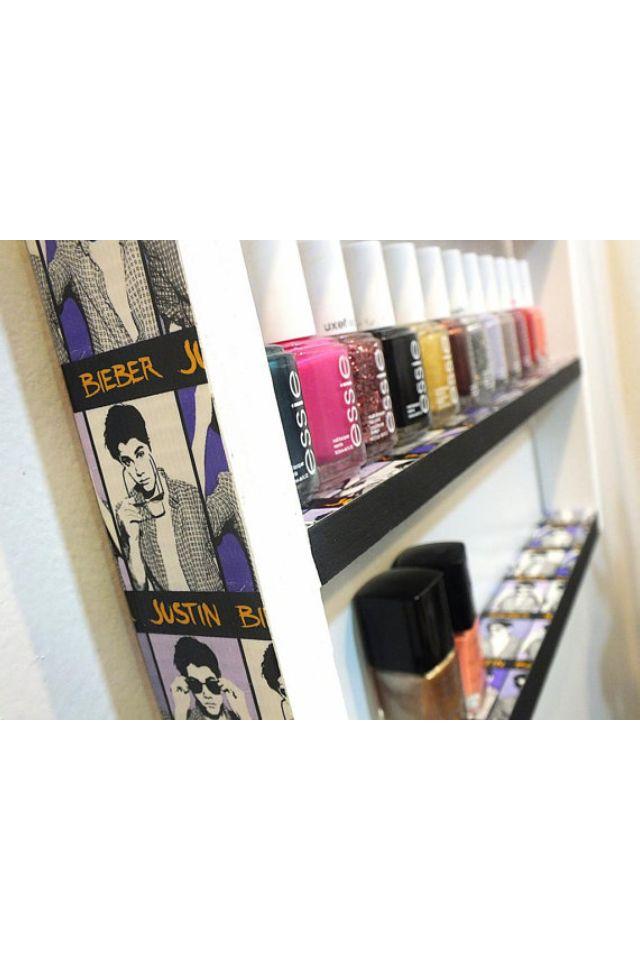 Justin Bieber nail polish holder Etsy.com   Room Decor   Pinterest ...