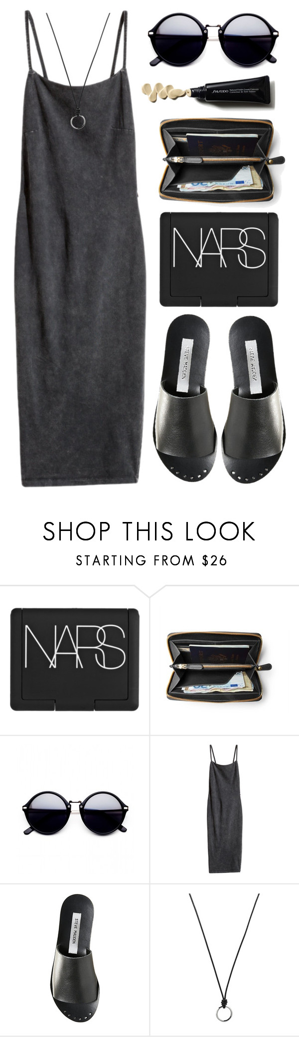 """#449"" by the777 ❤ liked on Polyvore featuring NARS Cosmetics, H&M, Steve Madden and FOSSIL"