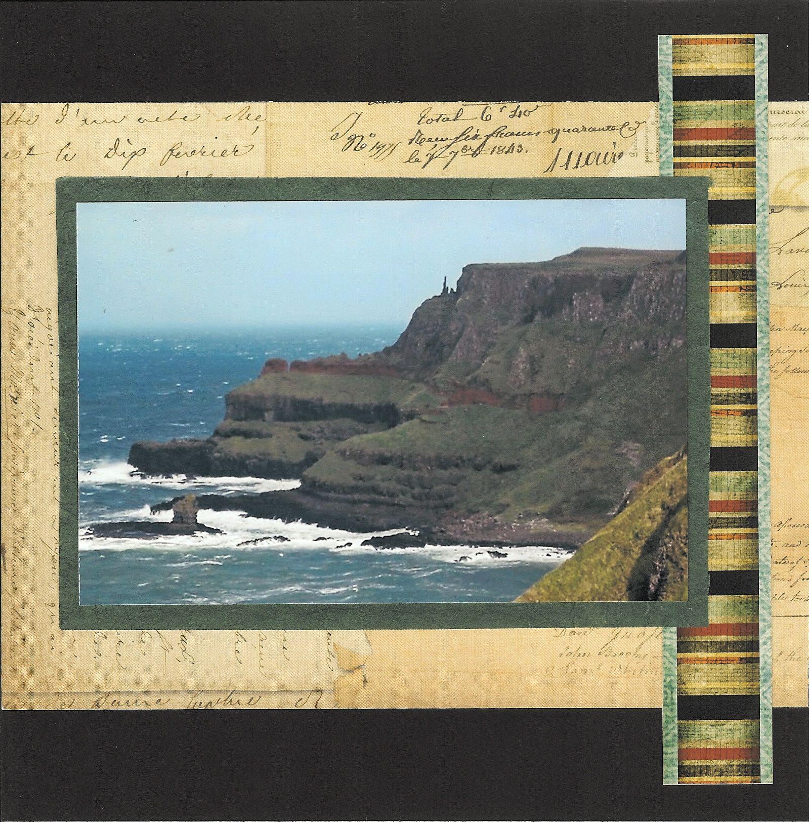 How to scrapbook 8x8 layouts - 8x8 Scrapbook Layout Ireland Album Page 8