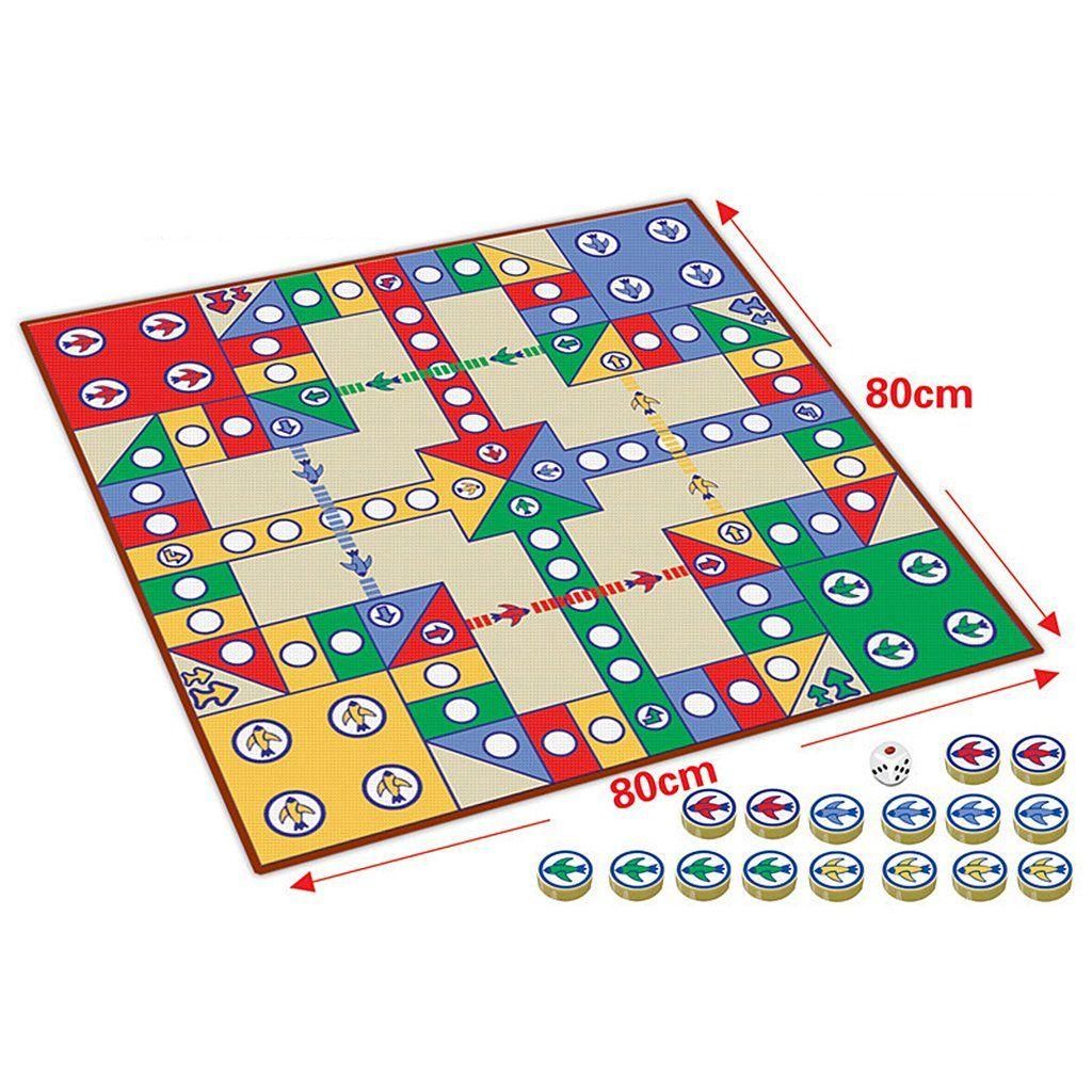 16pcs Chessmen Board Game, Flying Chess Carpet Kids