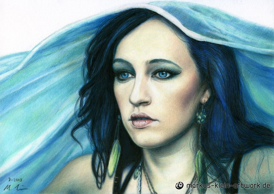 Markus Klein veiled faber castell polychromos pencils a4 12 x 8 inches marpa