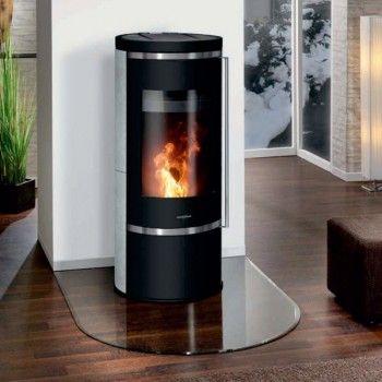 pelletofen oranier carus aqua 10kw stahl schwarz verkleidung kalkstein cream. Black Bedroom Furniture Sets. Home Design Ideas