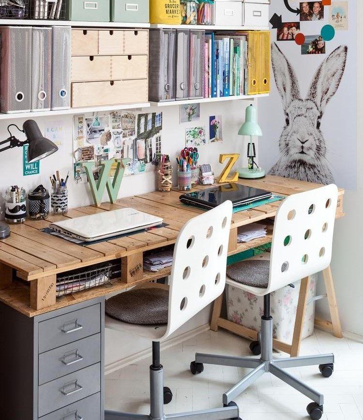 schreibtisch selber bauen paletten kinderzimmer jugendzimmer palettenm bel pinterest. Black Bedroom Furniture Sets. Home Design Ideas