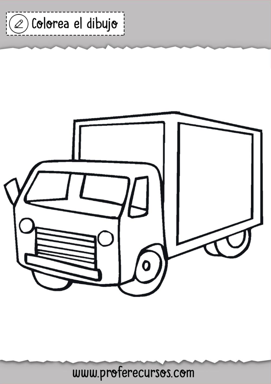 Dibujos De Camiones Para Pintar Camion Dibujo Pintar Dibujos