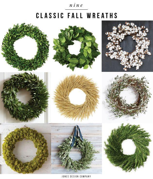 Nine Classic Fall Wreaths Holiday Wreaths Fall Wreaths Wreaths Fall Decor