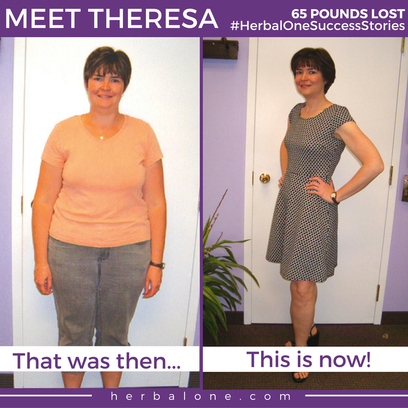Theresa lost 65 pounds on our program!