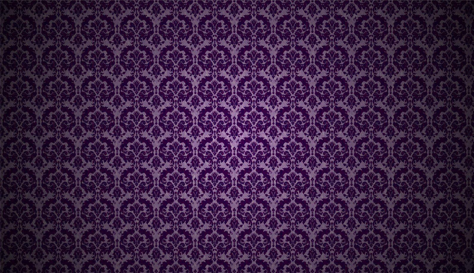Damask Digital Paper Deep Purple Patterns Damask Deep Purple Printable Scrapbook Designs Printable Deep Purple Pattern Purple background