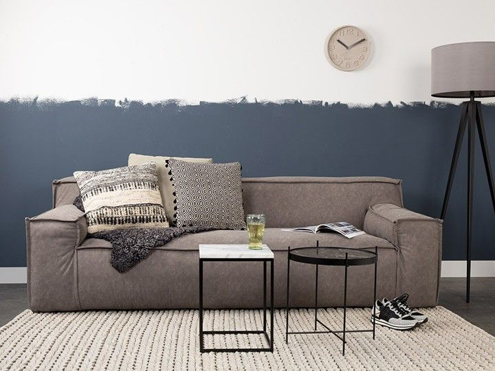 CONCRETE TIME Wanduhr Zuiver Beton \ Orange Wohnzimmer - wanduhr design wohnzimmer