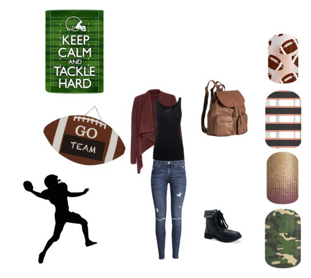 """""""fall football"""" by zombiewatcher on Polyvore featuring H&M, Juvia and Aéropostale"""
