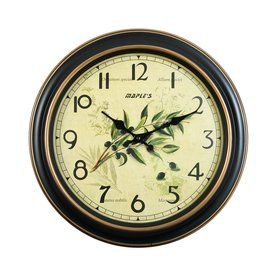 Maple's Analog Round Indoor Wall Clock L169a