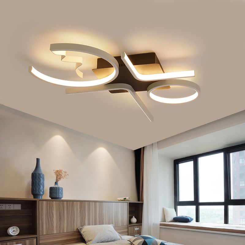 Best Deals Aluminum Wave Ceiling Lights Modern Led Lamp For Living