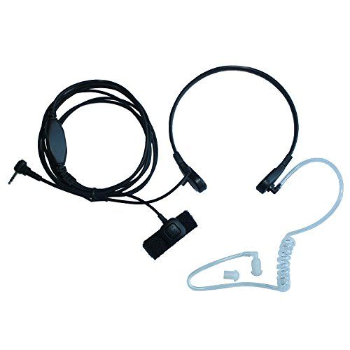 TENQ Clear Acoustic Tube Replacement for Surveillance Earpieces 2 Packs