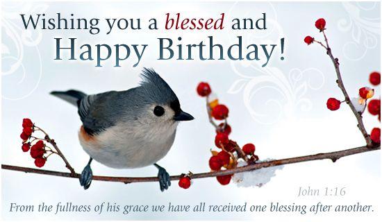 Free Blessed Birthday ECard