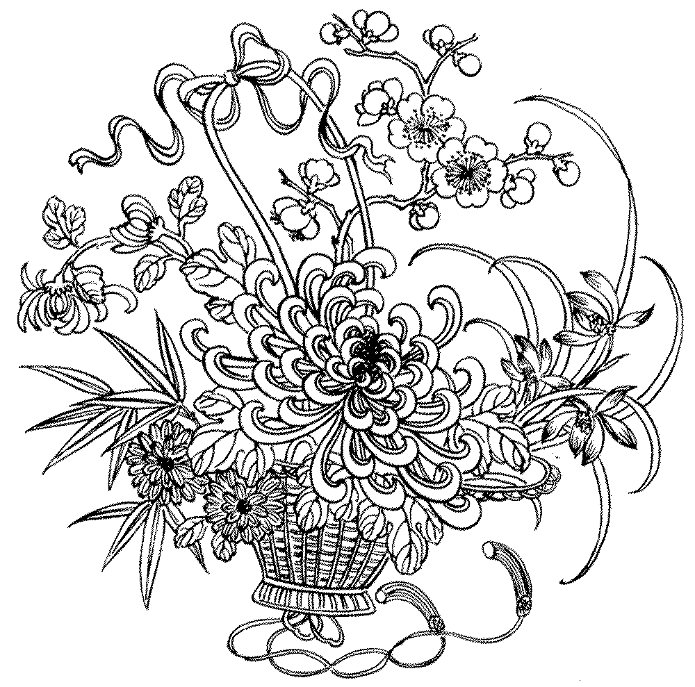 free flower coloring pages for adults  Join my grownup coloring