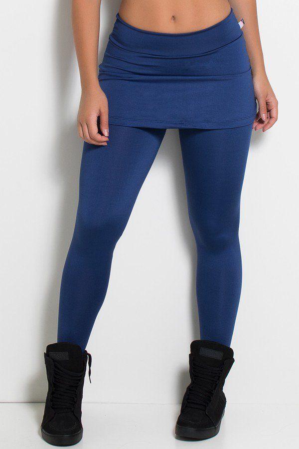 bc67c7603c8ba9 Calça Legging Lisa com Saia Franzida - várias cores | Roupas ...