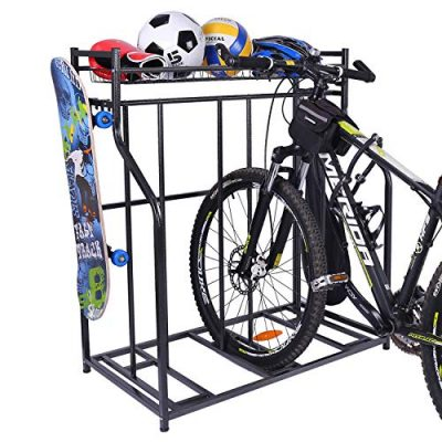 Mythinglogic Bike Rack Bicycle Holder With Baskets Collection