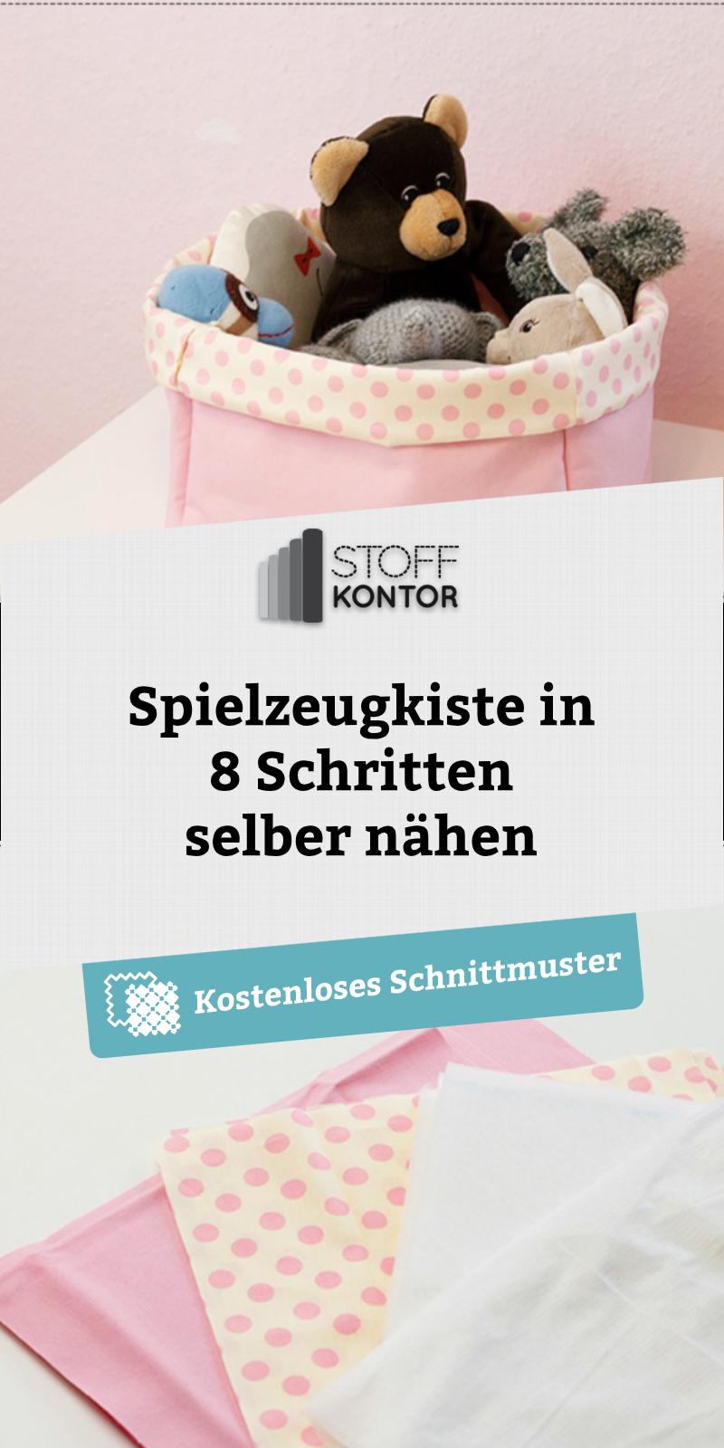 Patron de couture gratuit pour une boîte à jouets   – Wir ❤ Kinderzimmer | Nähideen für Spielzeug und Deko