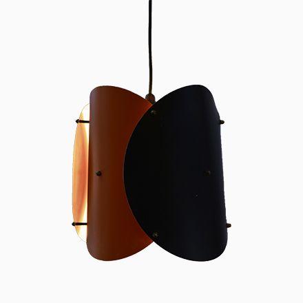 Deckenlampe in Schwarz  Orange, 1950er Jetzt bestellen unter   - deckenleuchten für badezimmer