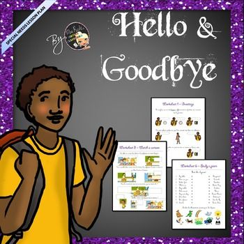 ESL-EFL Greetings - Hello and Goodbye Worksheets