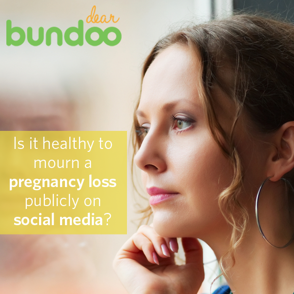Pregnancy loss is difficult on entire families. In Dear Bundoo, one woman worries that her sister isn't coping with a loss appropriately. See what advice our expert has to offer.