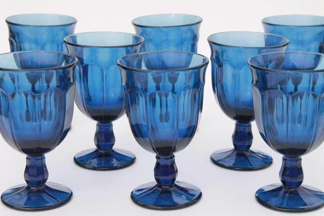 Noritake Perspective Colonial Blue Wine Goblet s
