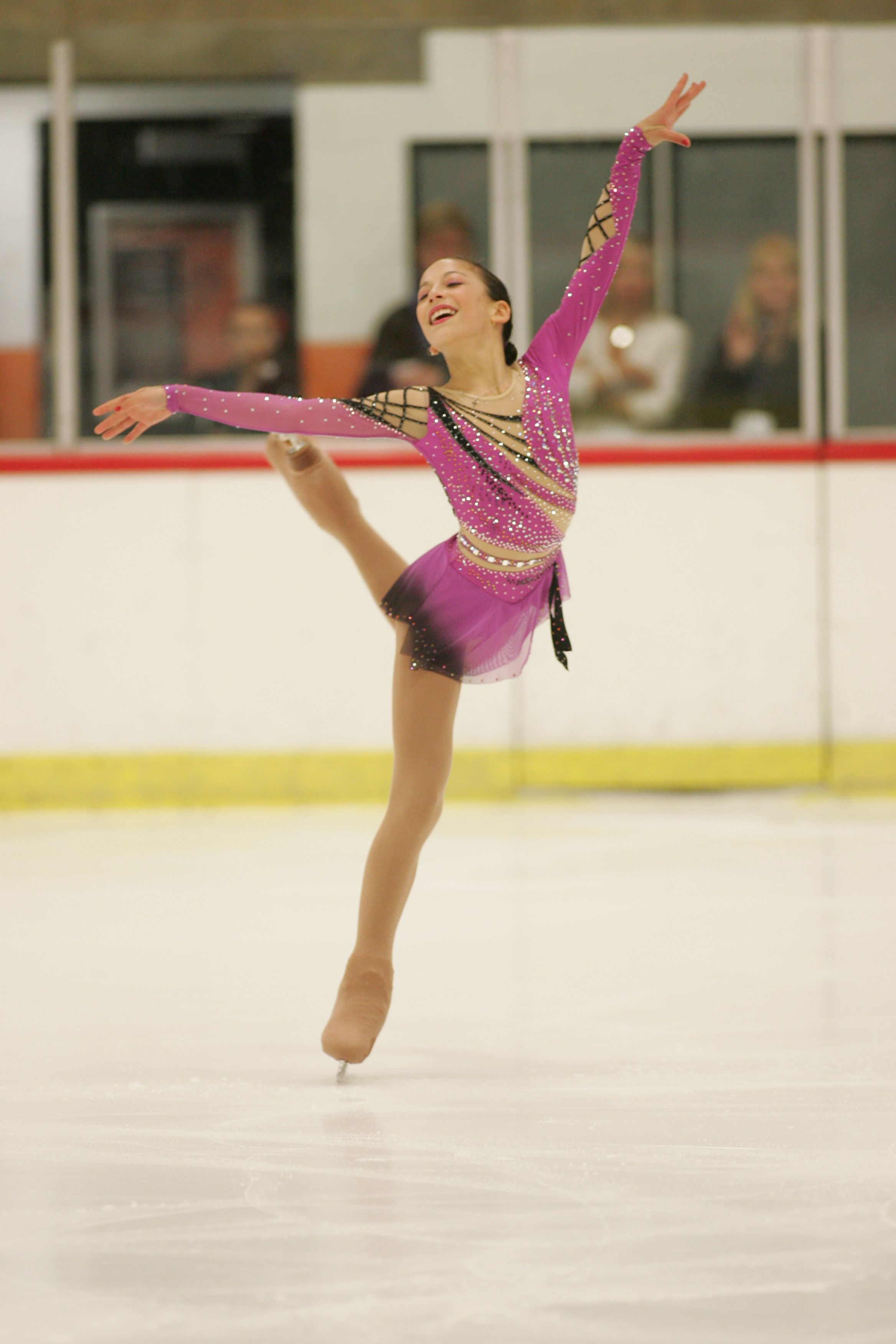 Leah Keiser, Pink Figure Skating / Ice Skating dress inspiration for Sk8 Gr8 Designs.