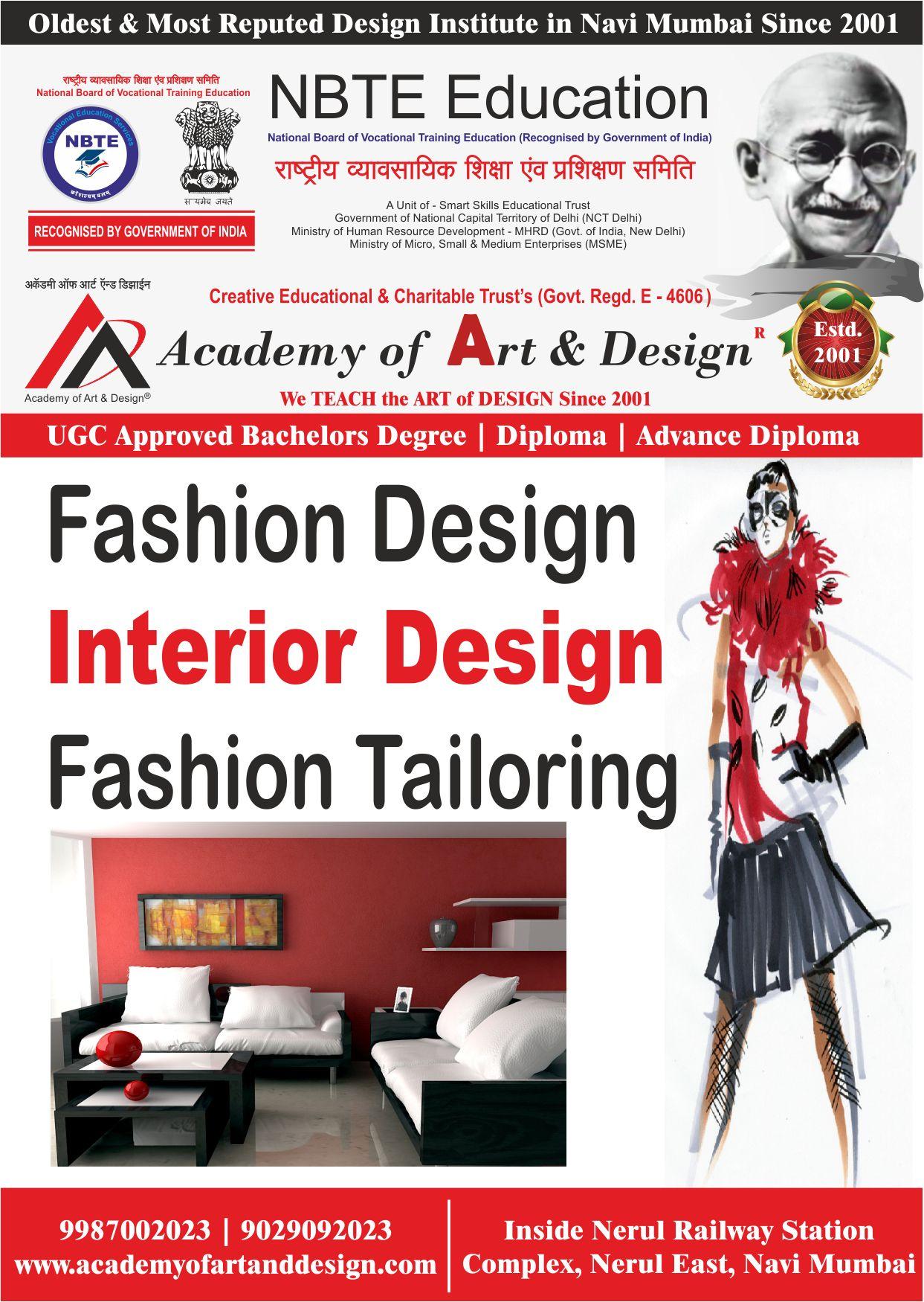 Fashion Interior And Fashion Tailoring College In Navi Mumbai Diploma In Fashion Designing Design Fashion Design