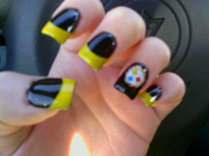 Steeler nails nails pinterest nail nail football nails and steeler nails prinsesfo Choice Image