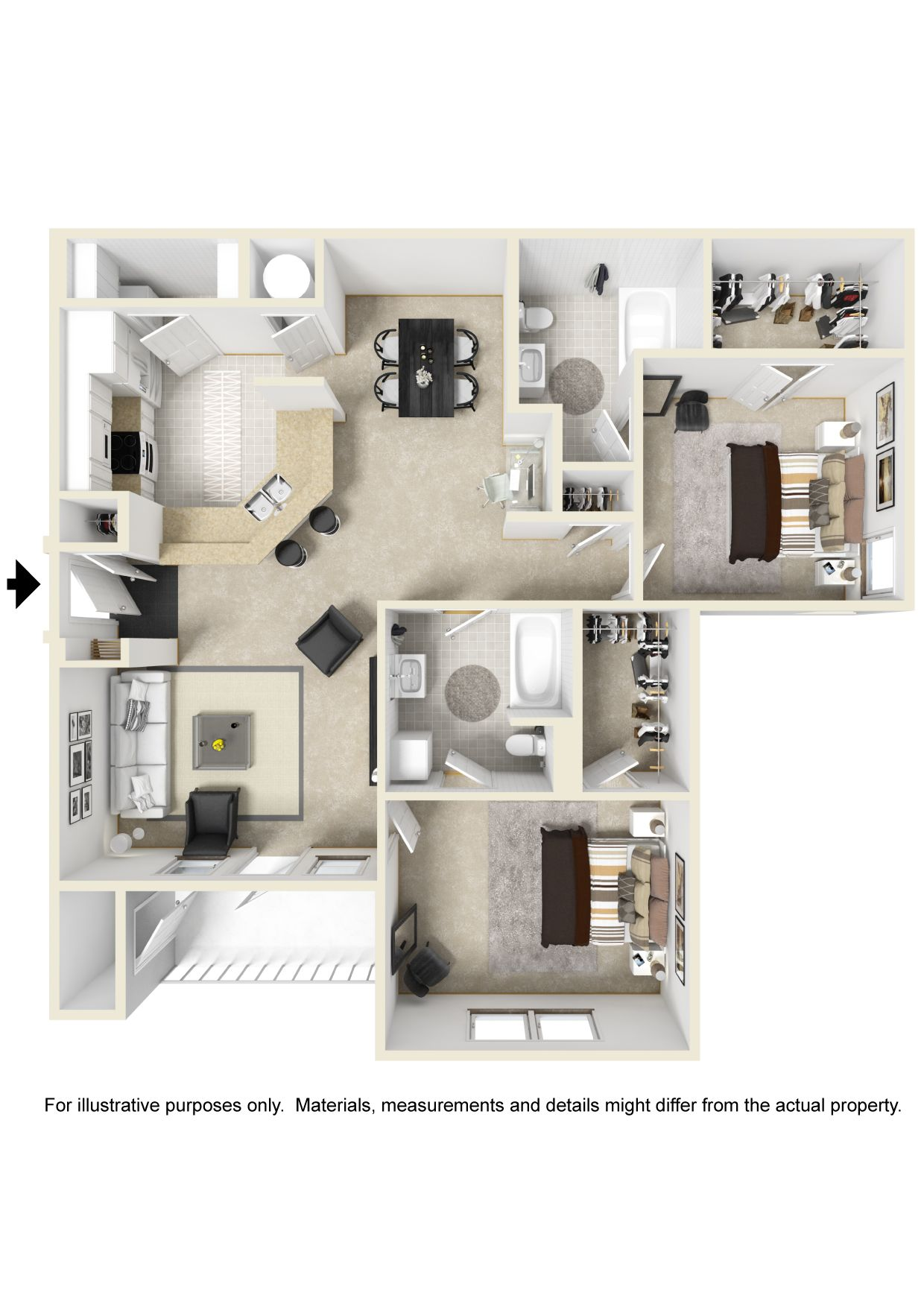 What A Large Two Bedroom Apartments. Apply Online At RentStillwood.com.
