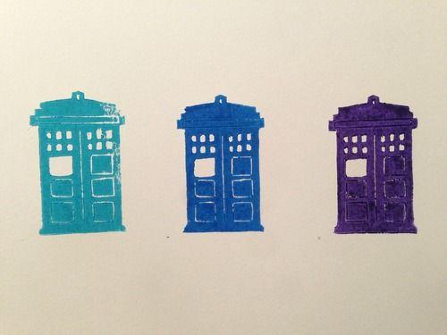 TARDIS stamp picture