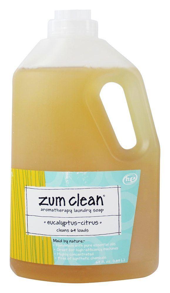 Zum Clean Aromatherapy Laundry Soap 64 Loads Eucalyptus Citrus