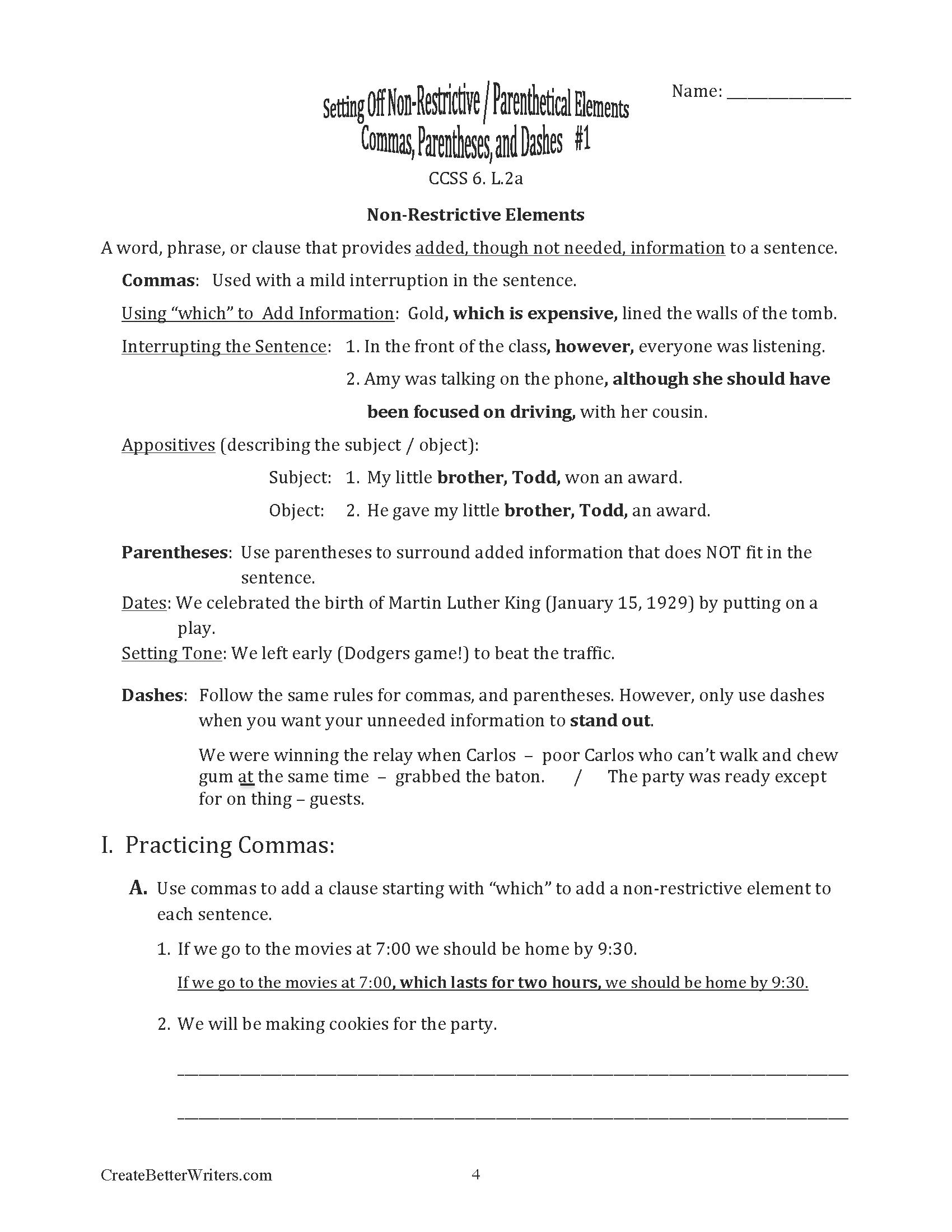 Common Core Based Language Grade 6