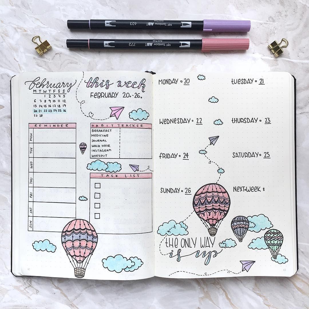 bullet journal 10 ideen f r deine weekly layouts kalender journal ideen und tagebuch. Black Bedroom Furniture Sets. Home Design Ideas